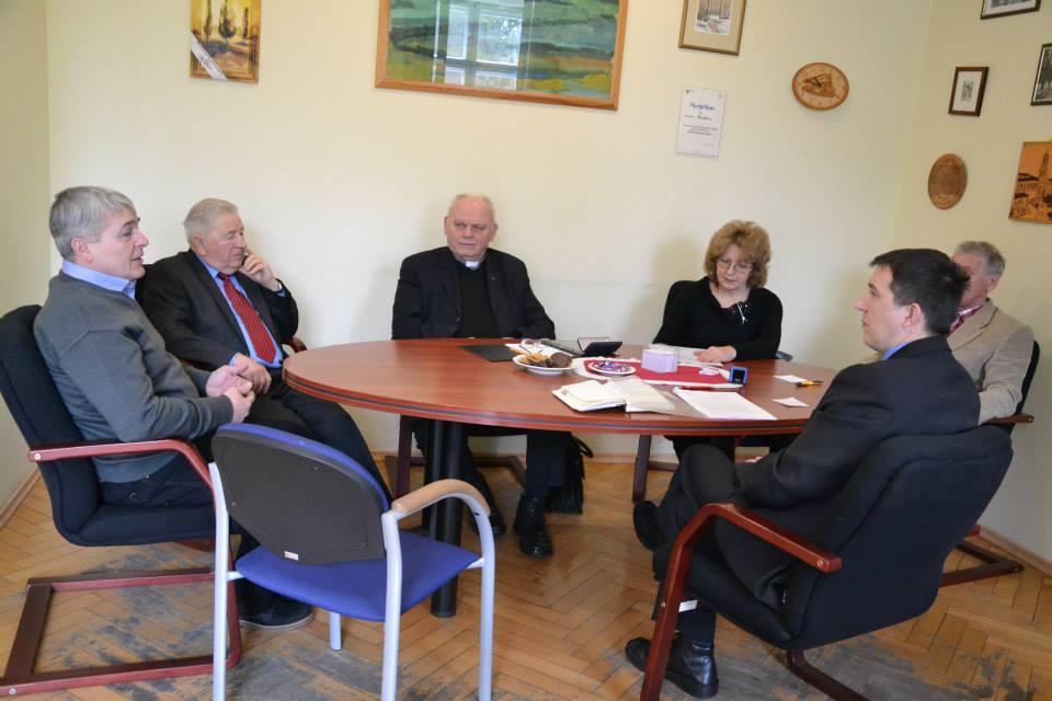 Spotkanie zprzedstawicielami Rady Parafialnej zkościoła pw. Wniebowzięcia NMP wBukowicach