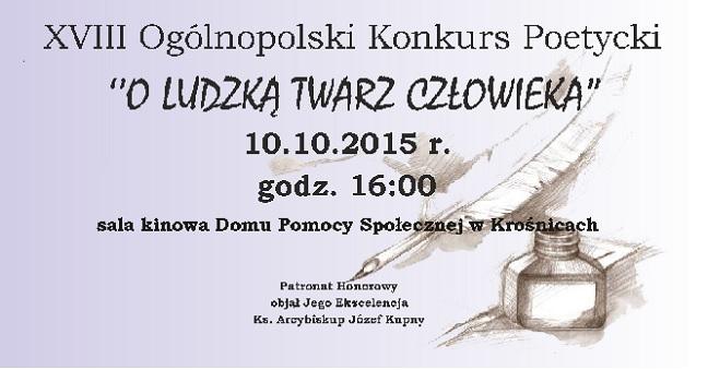 O ludzką twarz człowieka - ogólnopolski konkurs poetycki