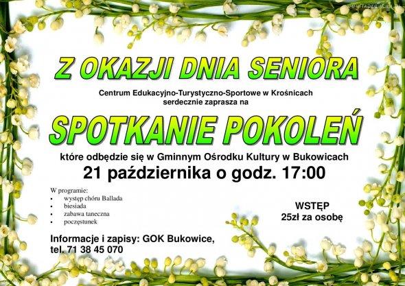 Spotkanie Pokoleń – Bukowice 21.10.2015