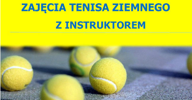Zajęcia tenisa ziemnego zinstruktorem