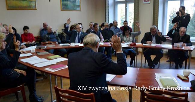XIV zwyczajna Sesja Rady Gminy Krośnice